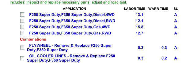 Transmission Cost for Labor - 4R100